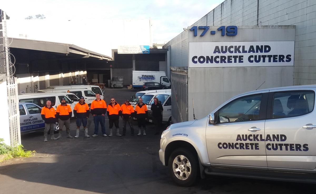 Auckland Concrete Cutters Crew 2016